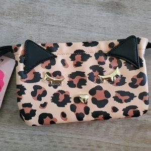 Luv Betsey by Betsey Johnson Leopard Cat Wristlet